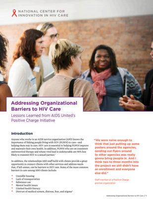 Addressing Organizational Barriers to HIV Care