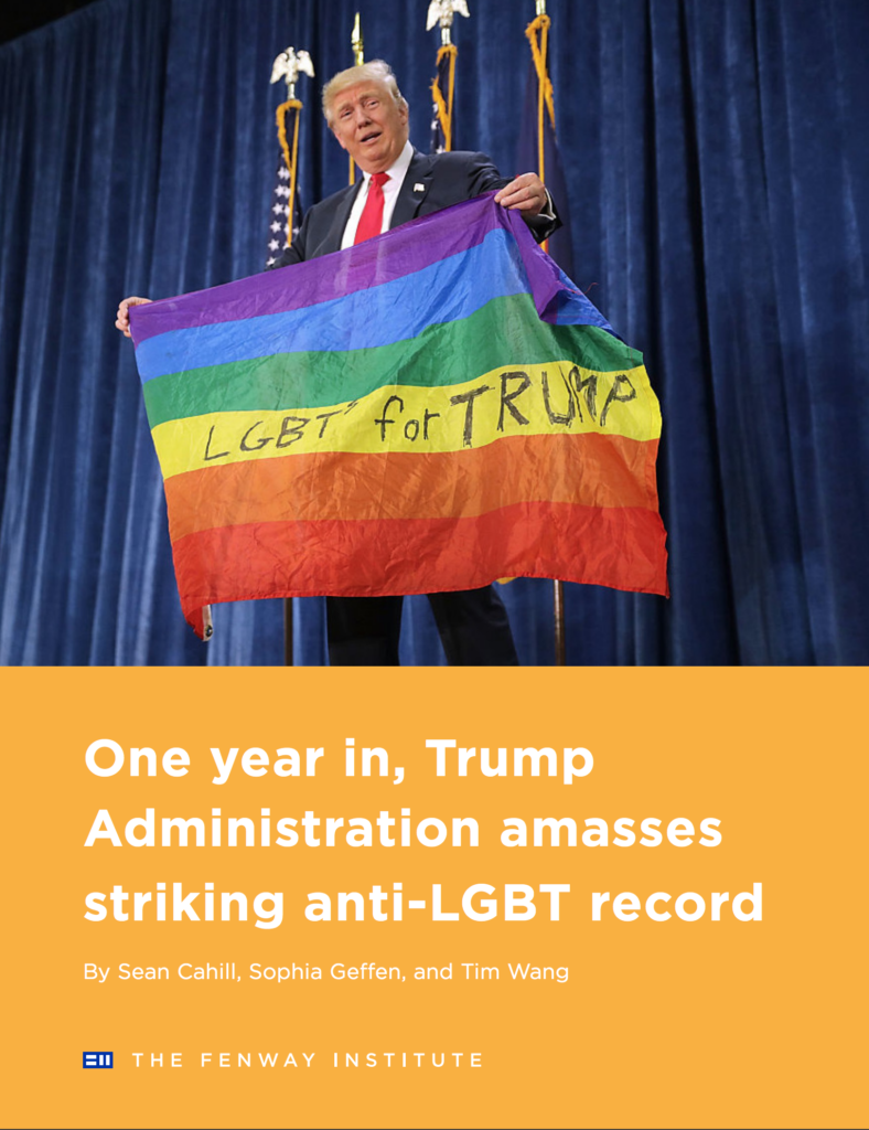 Brief: One year in, Trump Administration amasses striking anti-LGBT record