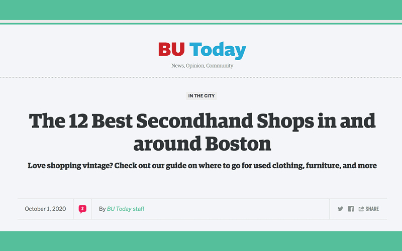 One of BU Today's 15 Best Thrift Stores Around Boston