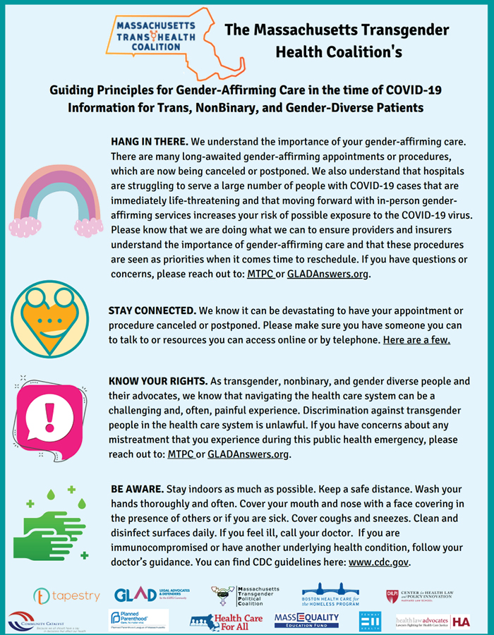 Guiding Principles for Gender-Affirming Care In the Time of COVID-19